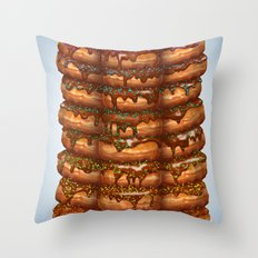 Donuts III 'sparkles&chocolate' Throw Pillow