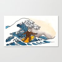 Sloth Riding The Great W… Canvas Print