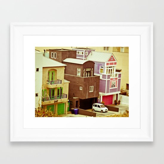 Colorful Condos Framed Art Print