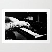 The Piano Man's Hands Art Print