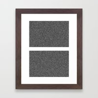Noise Interrupted Framed Art Print