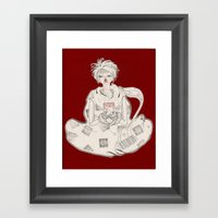 Clasped By Sickness Framed Art Print