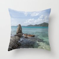 Caribbean Beach Photogra… Throw Pillow