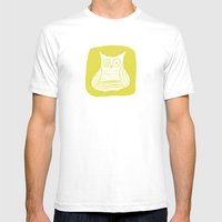 Hoot 3 Mens Fitted Tee White SMALL
