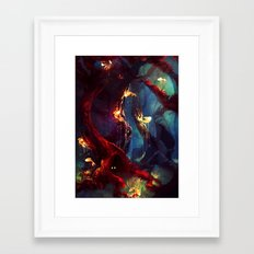 TreeFish Framed Art Print
