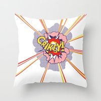 Crikey Roy! Throw Pillow