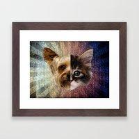 CatDog 2 Framed Art Print