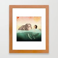 The Bath Framed Art Print