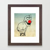 elephant clown 02 Framed Art Print