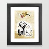 Bear Hug! Framed Art Print