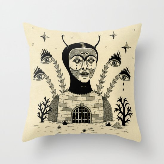 Preternatural Prison Throw Pillow