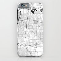 iPhone Cases featuring Memphis G by City Map Art