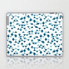 Triangles Blue Repeat Laptop & iPad Skin
