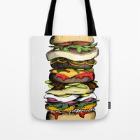 Now THIS is a burger. Tote Bag