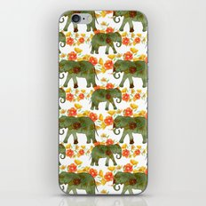Wading Elephants iPhone & iPod Skin