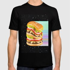 Big Burger Black SMALL Mens Fitted Tee