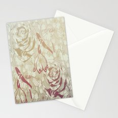 Retro flowers Stationery Cards