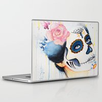 day of the dead Laptop & iPad Skins featuring Day of the Dead by Beth Michele