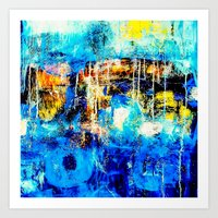 In and Out of the Blue Art Print