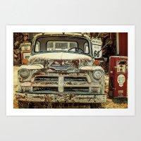 Vintage Truck Route 66 Art Print