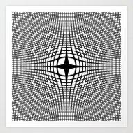 Black On White Convex Art Print