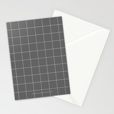Grey and White Grid Stationery Cards
