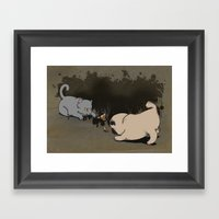 Adorably Dirty Framed Art Print