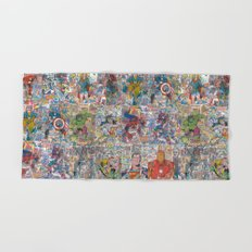Vintage Comic Superheroes Galore (Limited Time) Hand & Bath Towel