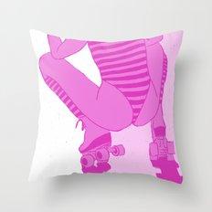 ROLLER GIRL Throw Pillow