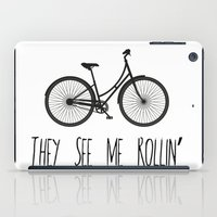 They See Me Rollin' Bicycle - Women's Cruiser City Bike Cycling  iPad Case