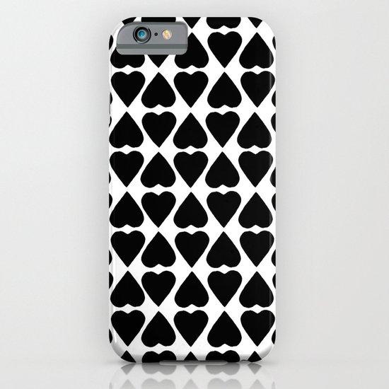 Diamond Hearts Repeat Black iPhone & iPod Case