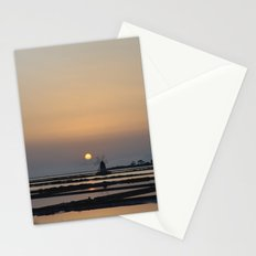 windmill at sunset Stationery Cards