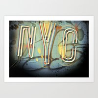 nyc Art Prints featuring NYC  by Phil Provencio