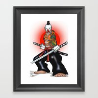 Clown Samurai Framed Art Print