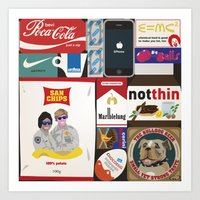 Consumption of goods Art Print