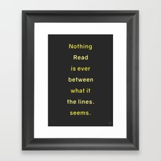 LINES Framed Art Print