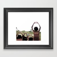 4 Hearts Framed Art Print