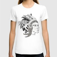 Indian Womens Fitted Tee White SMALL