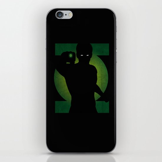 SuperHeroes Shadows : Green Lantern iPhone & iPod Skin