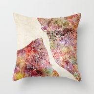 Throw Pillow featuring Liverpool by MapMapMaps.Watercolo…