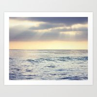 California Sunset over the Pacific Ocean Art Print