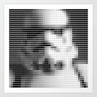 Storm Trooper - StarWars - Pantone Swatch Art Art Print