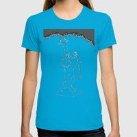 Self-Sacrifice Womens Fitted Tee Teal SMALL