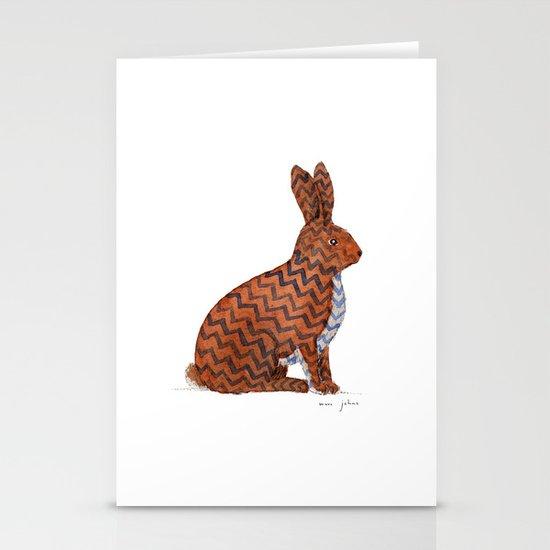 zig zag rabbit Stationery Card