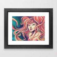 Technicolor Mermaid Framed Art Print