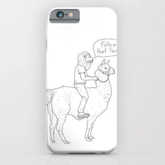 Follow that llama ! iPhone & iPod Case