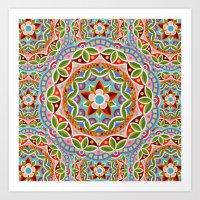 Fiesta Mandala Art Print