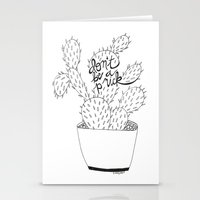 Cactus In Black Stationery Cards