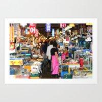 Noryangjin Fish Market Seoul Art Print