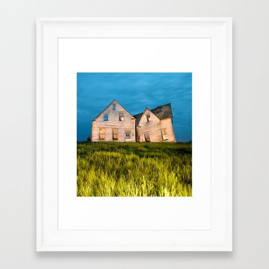 Family Homestead Framed Art Print